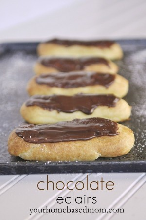 Chocolate Eclairs and Cream Puffs