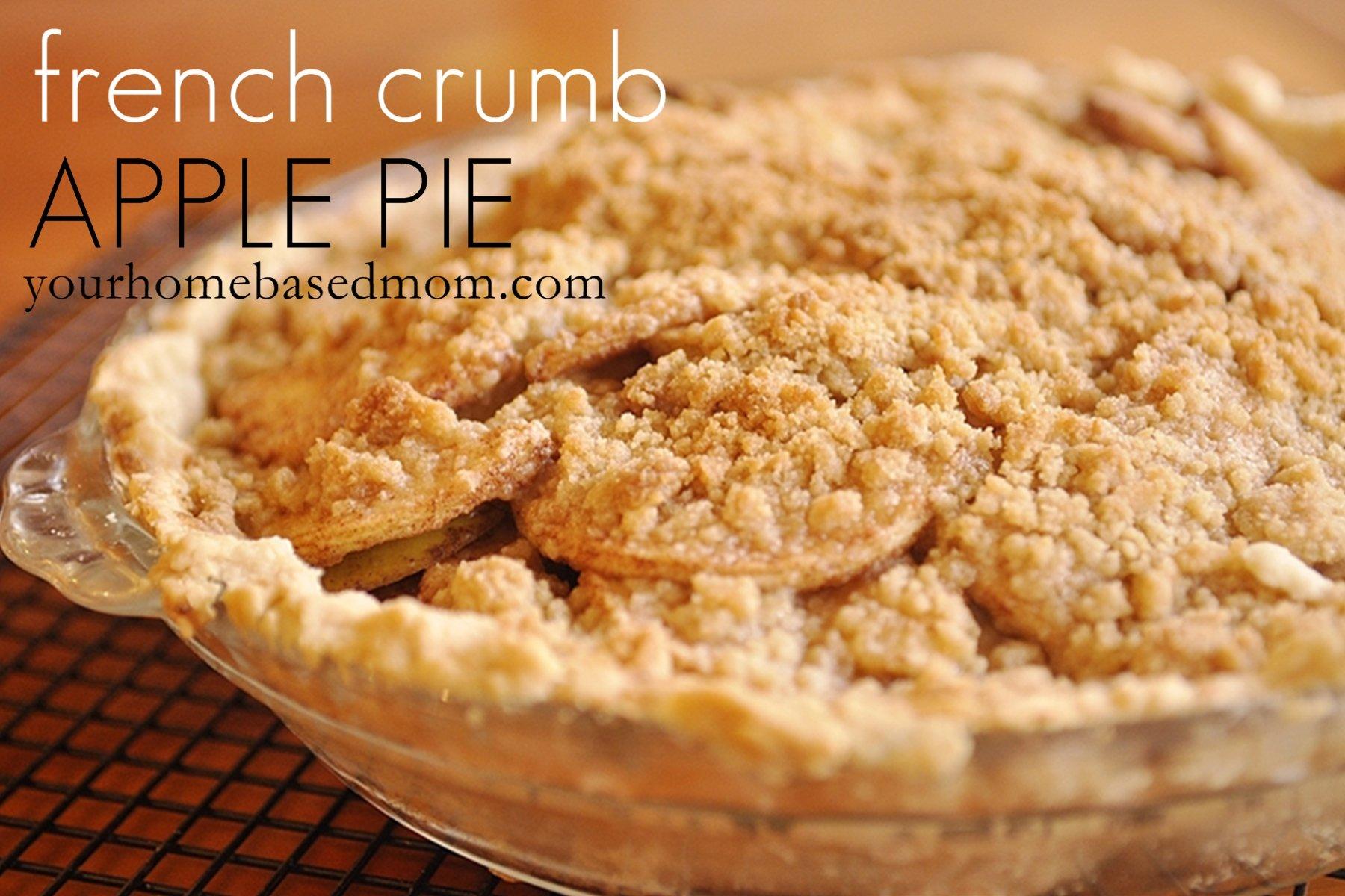 French Crumb Apple Pie