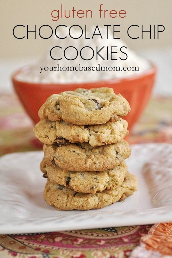 Gluten Free Chocolate Chip Cookies@yourhomebasedmom.com