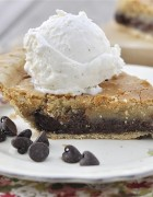 Chocolate Chip Pie www.yourhomebasedmom.com