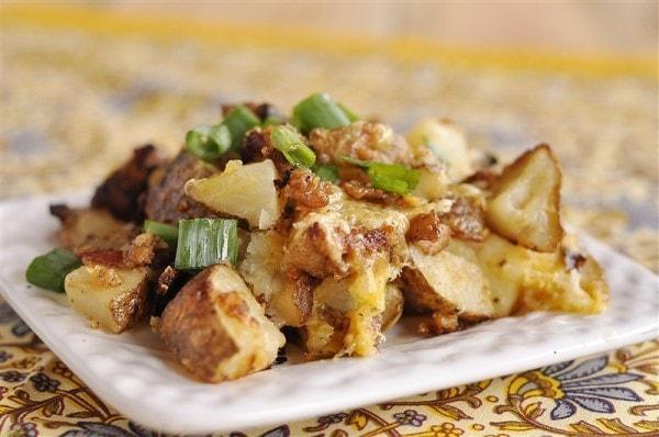 Roasted Bacon Cheesy Potatoes