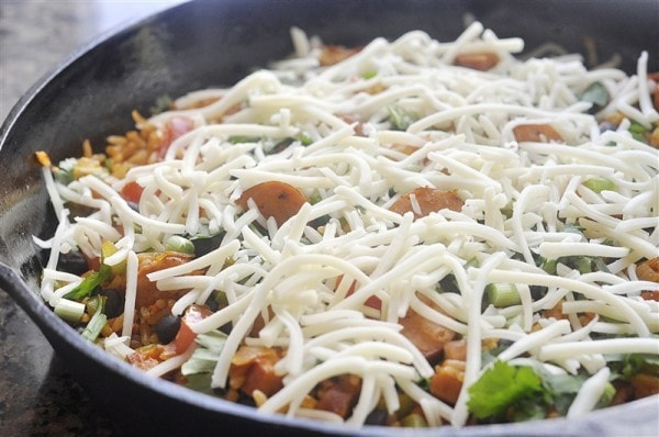 Spanish Rice and Sausage Skillet