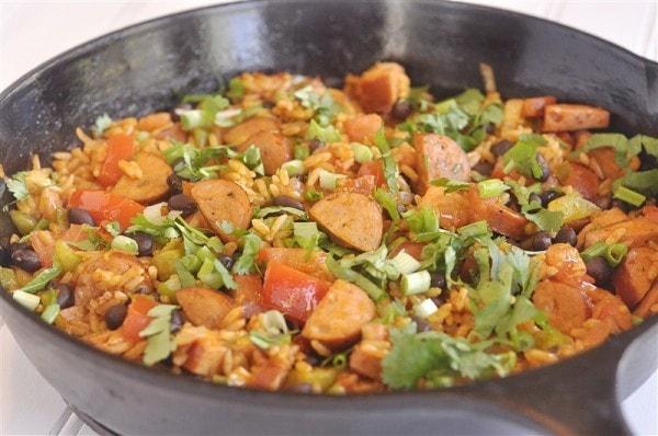 Spanish Rice and Sausage Skillet