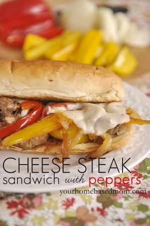 Cheese Steak Sandwich with Peppers