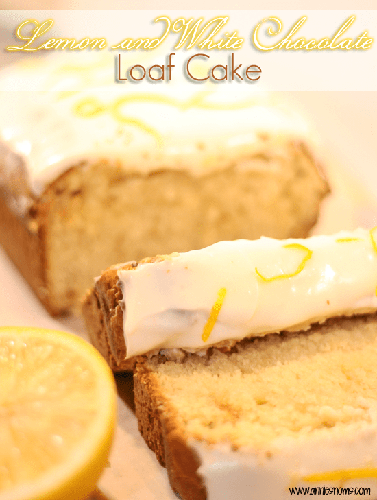 lemon and white chocoalte loaf cake