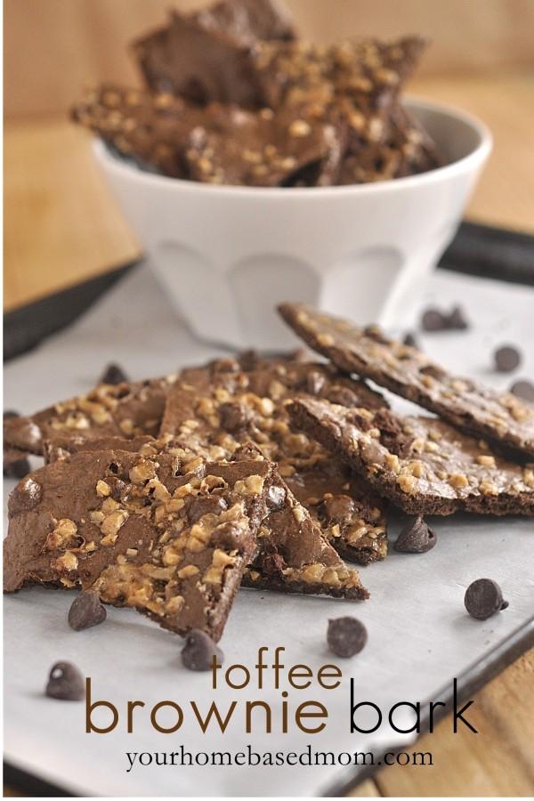toffee brownie bark