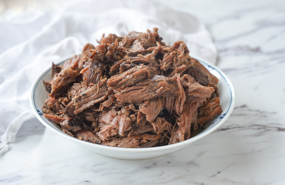 bowl of balsamic beef