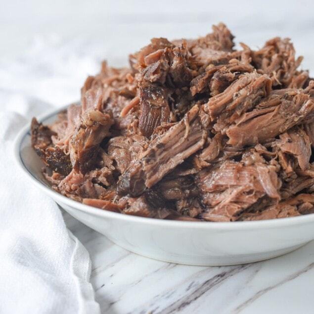 bowl of blasamic beef