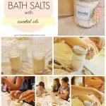 collage of making bath salts