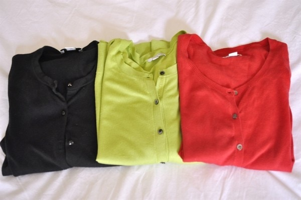 Travel Wardrobe Color Palette