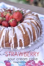 Strawberry Sour Cream Cake