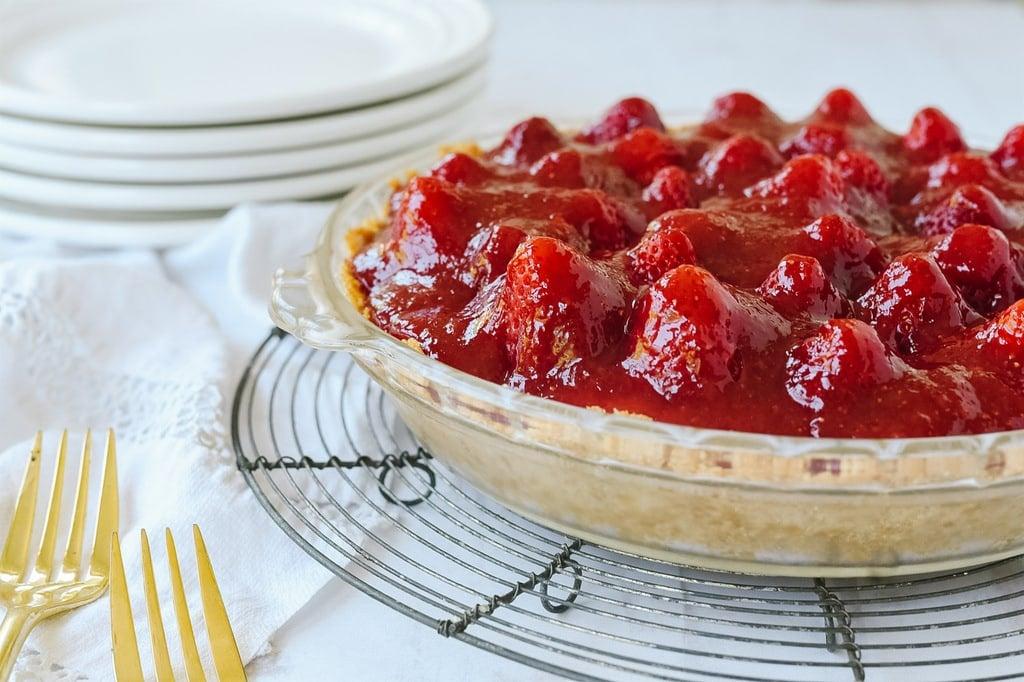 whole strawberry cream cheese pie
