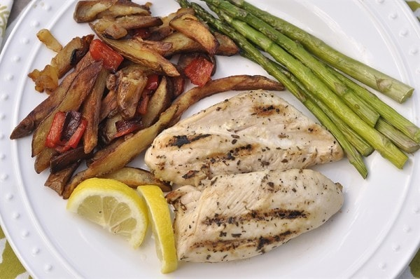 Grilled Lemon Mustard Chicken