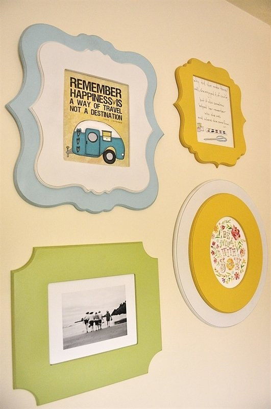 Cut It Out Frames - wall collage tutorial
