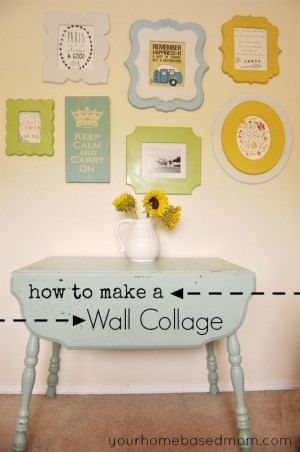 How to Make a Wall Collage with Cut It Out Frames and Giveaway