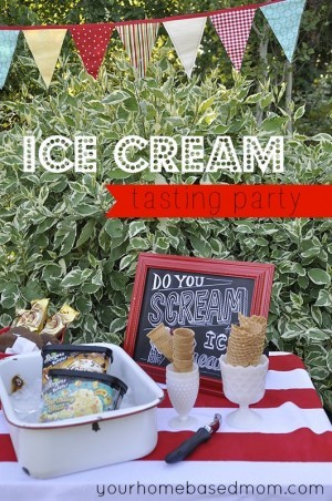 Ice Cream Tasting Party and Giveaway
