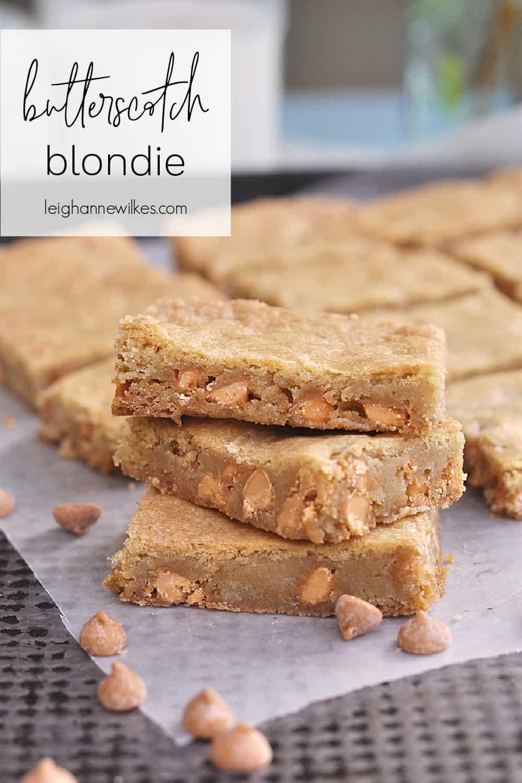 pile of butterscotch blondies