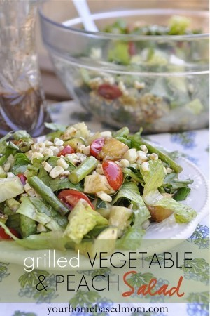 Grilled Vegetable & Peach Salad}The Chew