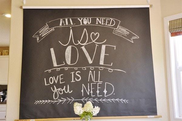 Chalkboard Backdrop @yourhomebasedmom.com