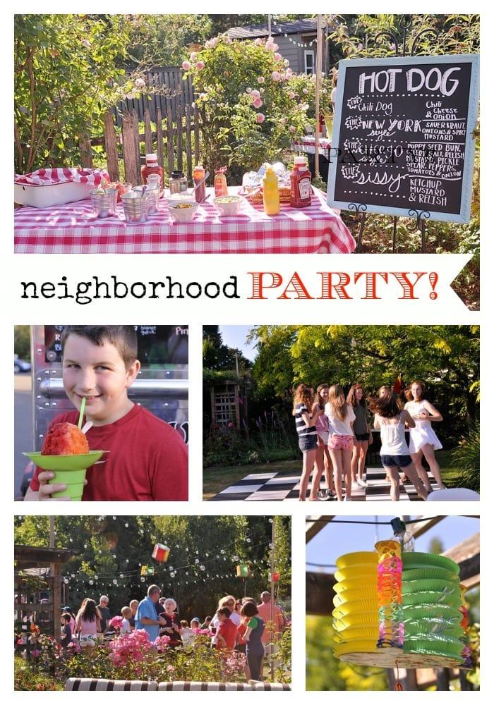 Neighborhood Party Idea