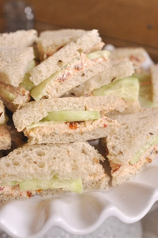 how to make cucumber sandwiches without cream cheese