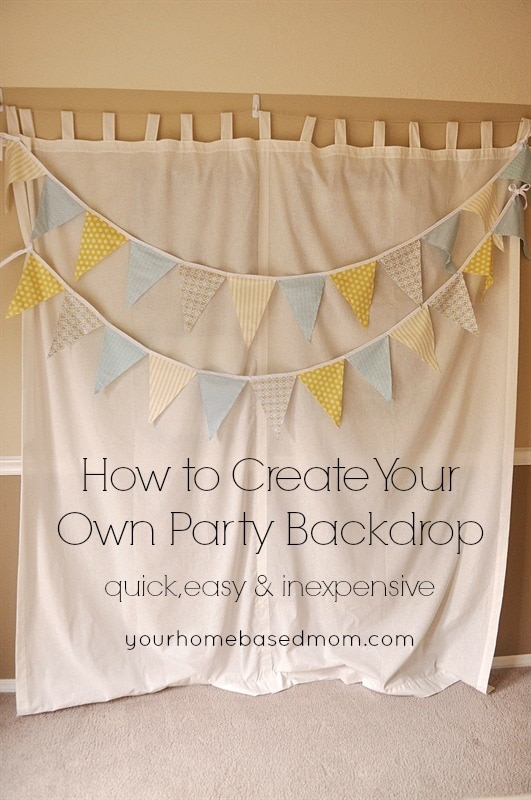How to Create Your Own Party Backdrop