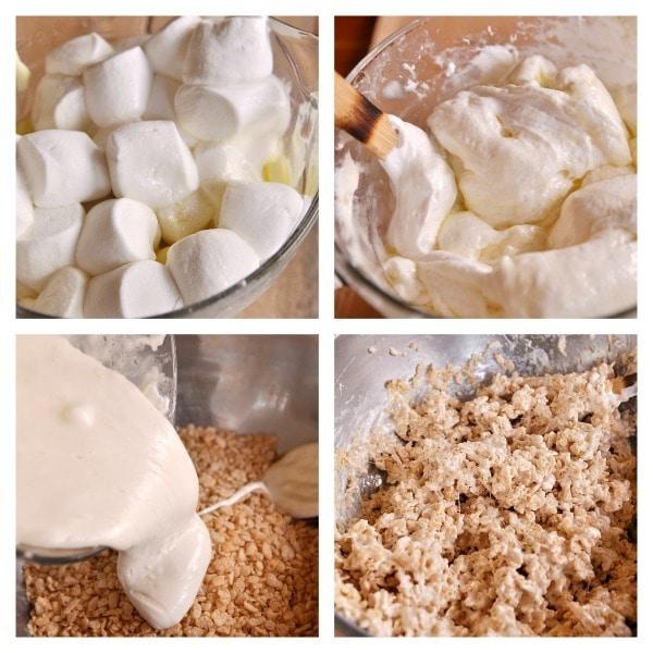 rice krispie collage