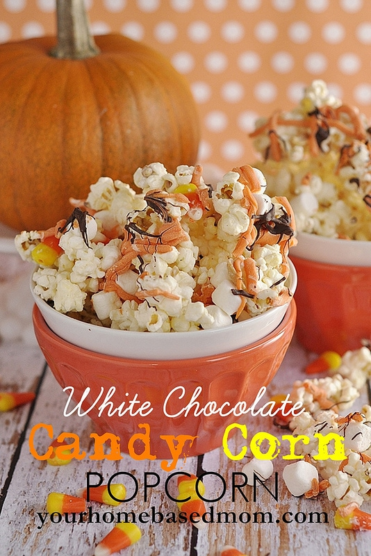 Candy Corn White Chocoalte Popcorn
