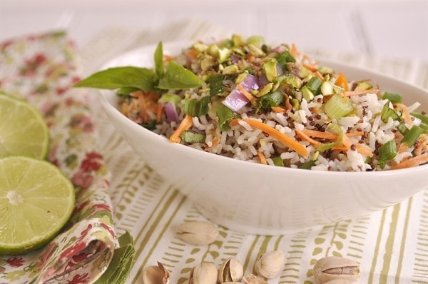 Coconut Lime Quinoa Rice Salad