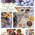 donut decorating party collage