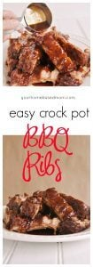These easy crock pot BBQ ribs aren't just easy -they are delicious! Recipe @yourhomebasedmom.com
