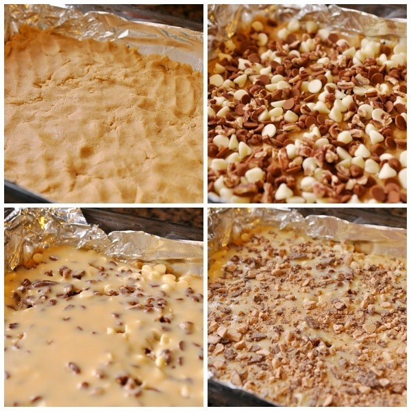Perfect Pumpkin Magic Cookie Bars Collage