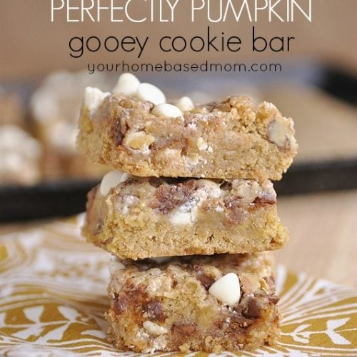 Perfectly Pumpkin Gooey Cookie Bars