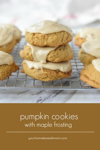 Pumpkin Cookies with Maple Frosting