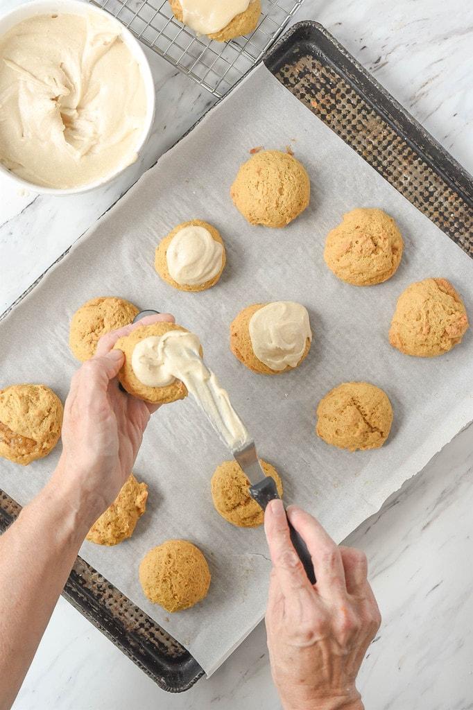 Frosting Pumpkin Cookies