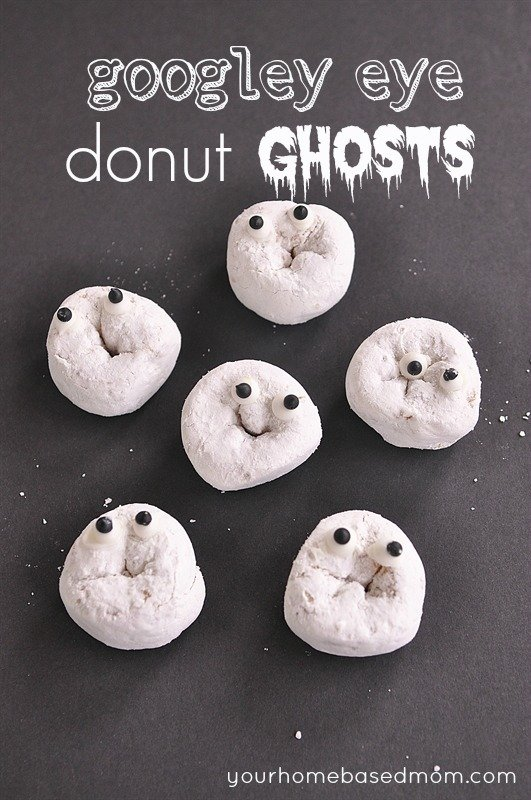 googly eye donut ghosts