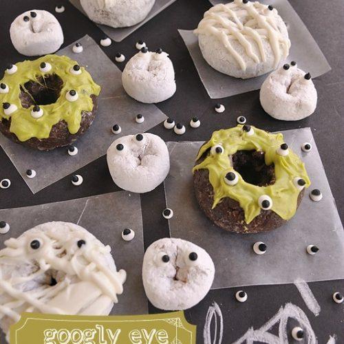 Googly Eye Donuts}Ghosts, Mummies & Monsters!!