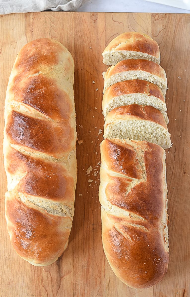 two loaves of french brfead