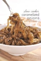 Slow Cooker Caramelized Onions @yourhomebasedmom.com