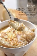French Onion Soup with Slow Cooker Caramelized Onions