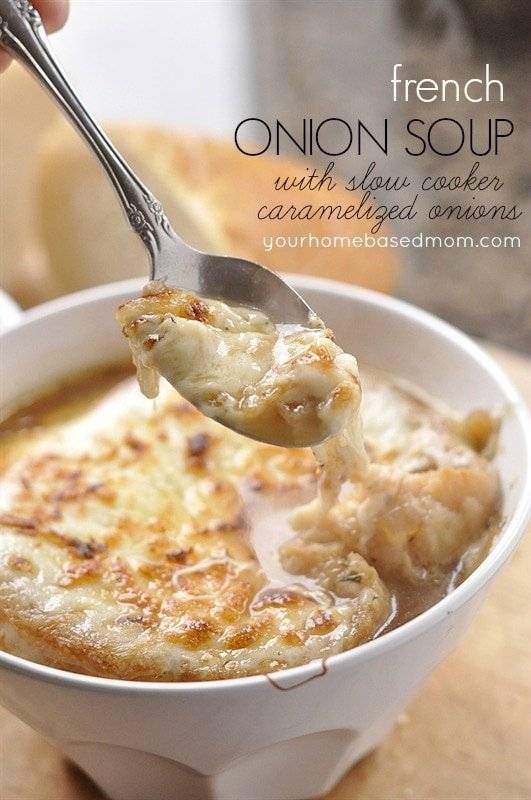 French Onion Soup with Slow Cooker Caramelized Onions - your homebased ...