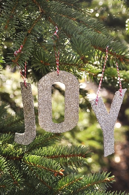 Pottery Barn Knock Off Glitter Letter Ornament Your