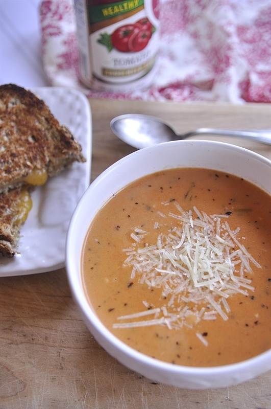 easy tomato soup recipe made with canned soup