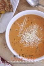 Quick & Easy Tomato Soup @yourhomebasedmom.com
