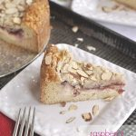 slice of raspberry cream cheese coffee cake