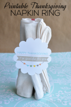 Printable Thanksgiving Napkin Ring www.thirtyhandmadedays.com