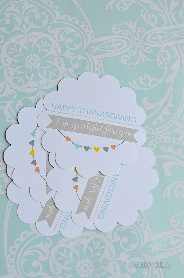 Punched Thanksgiving printable www.thirtyhandmadedays.com