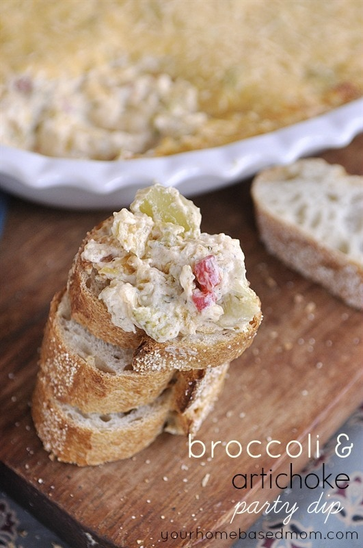 Broccolil and Artichoke Party Dip