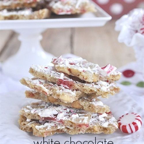 Peppermint White Chocolate Cookie Bark