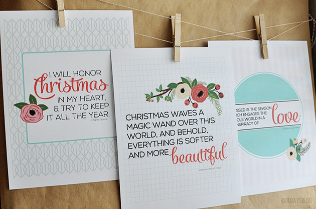 Printable Christmas Quotes www.thirtyhandmadedays.com